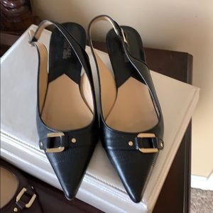 Michael Kors black low hell shoes